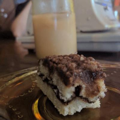coffee cake and chai tea in northampton ma on food tour