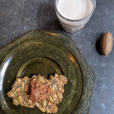 iconica seeded cracker and almond milk northampton ma